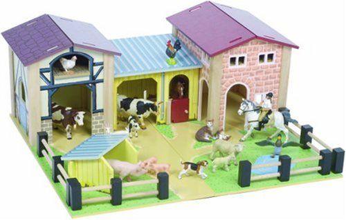 BARN Yard Wood Toy Play Set