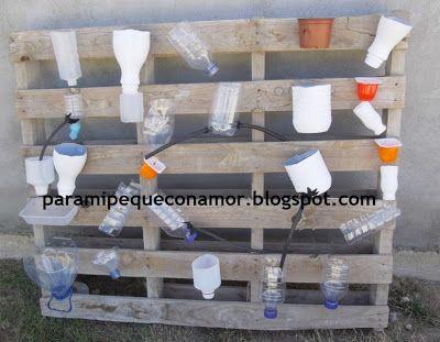 circuit d 39 eau pour l 39 ext rieur recyclage tuto activit s pour enfants. Black Bedroom Furniture Sets. Home Design Ideas