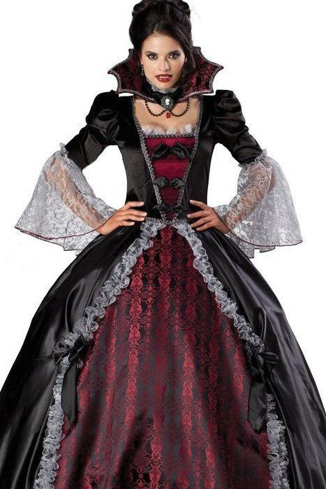 adult women splendid vampire dress halloween costume gothic witch floor length ball gown women costumes petticoat skirt e8840 alternative measures brides - Halloween Petticoat