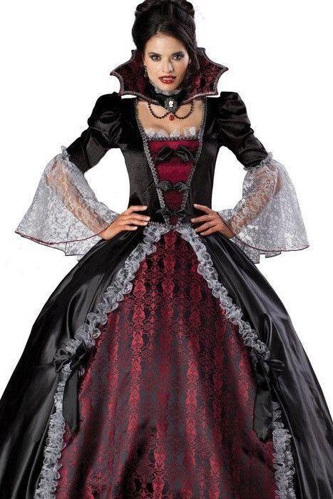 Adult Women Splendid Vampire Dress Halloween Costume Gothic Witch ...