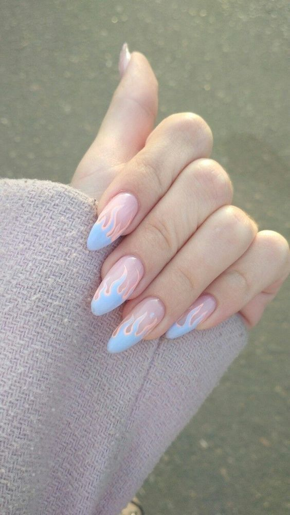 Latin Witch Las Unas Mas Cool De La Cdmx Fire Nails Perfect Nails Pastel Nails