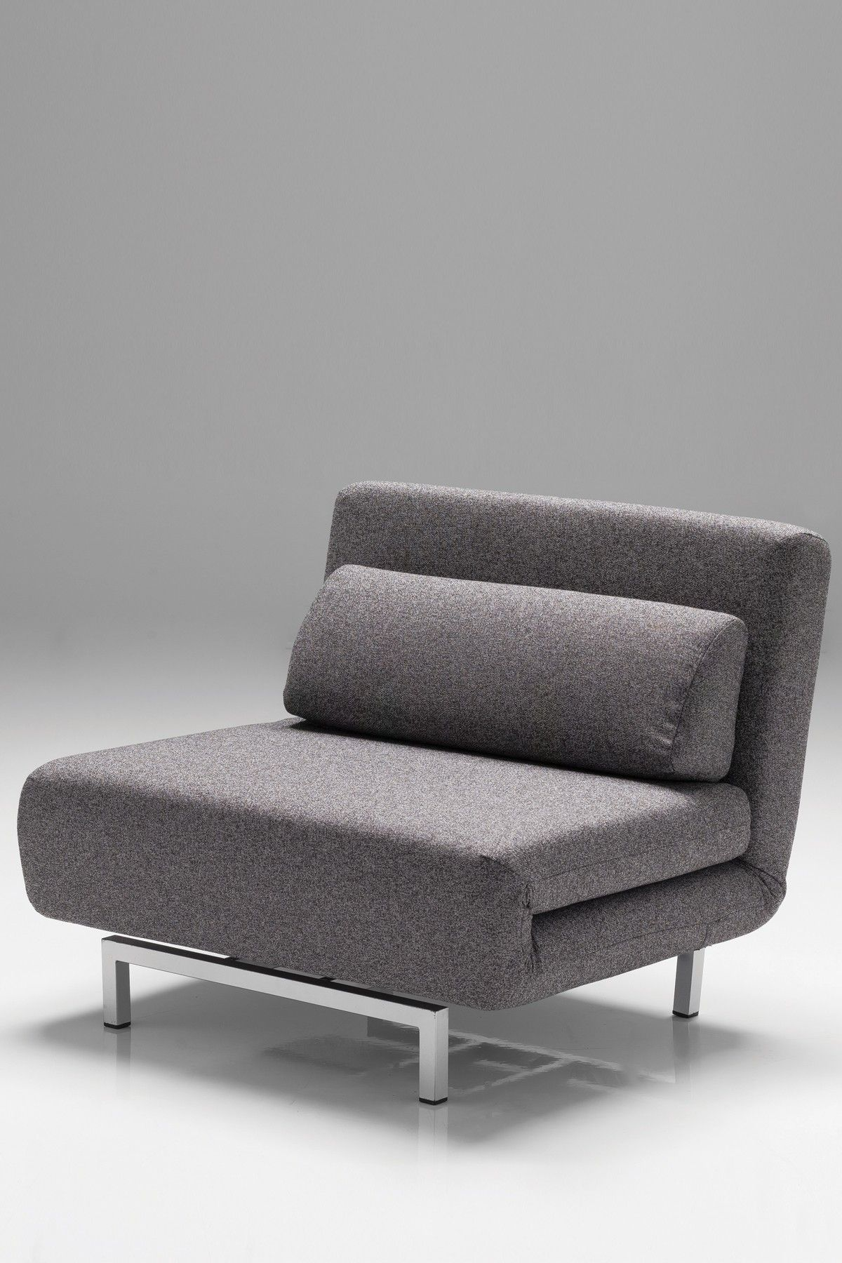 Mobital Iso Convertible Chair Bed Charcoal Tweed