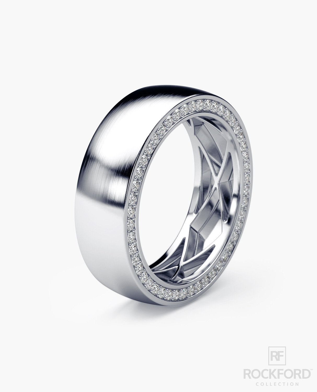 Mens Wedding Bands With Diamonds.Jerritt Mens Gold Wedding Band With Diamonds Gifts 4 Groom