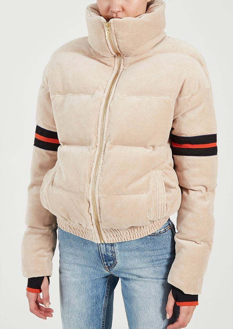 ecb15c7cf P.E NATION | Cover Back Jacket - Beige | Products | Jackets, Puffer ...