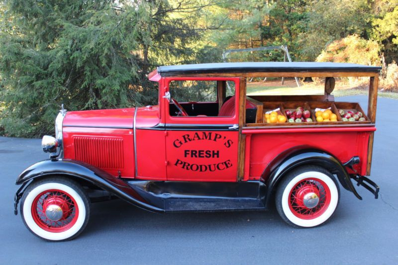 Ford Model A Vegetable Delivery Truck Trucks Old Ford Trucks Old Pickup Trucks