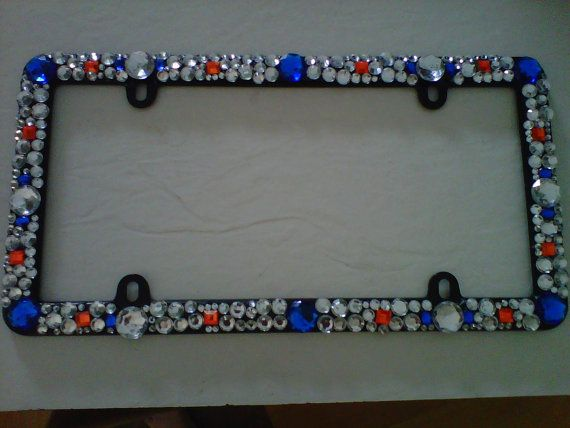 Bedazzled License plate frame by KreationsbyKamryn on Etsy, $32.00 ...