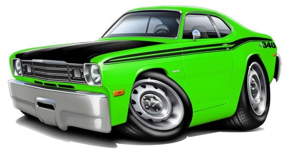 Automobile Wall Murals, Classic Car Decal, 1970-74 Duster 340 Wall Decal, Car Illustration, Vintage Car Decals, Car Decals