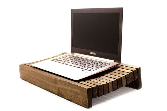 Wood Laptop Stand Laptop Holder Lap Tray Lap Desk By WoodWarmth