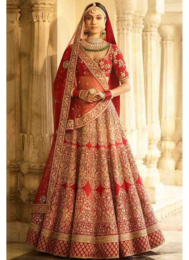 70534ca43965 Exclusive Heavy Designer Beautiful Red Color Bridal Lehenga Choli-STYLIZONE  – Stylizone A beautiful blush pink gown with a heavily embellished bodice in  ...