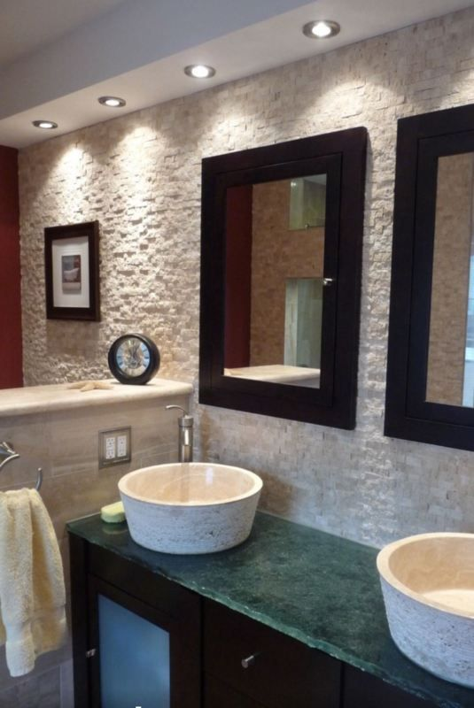 Superb Sample Of Split Natural Rock Face Light Travertine Mosaic Tiles 23x50mm Pictures Gallery