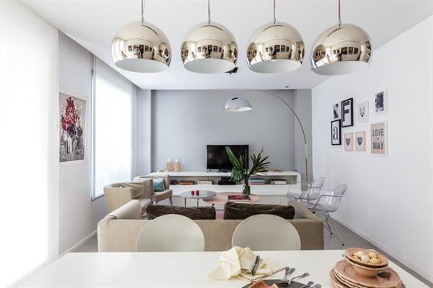 Cocina Y Sala De Estar Todo En Uno Gris Y Blanco Cocinas Y