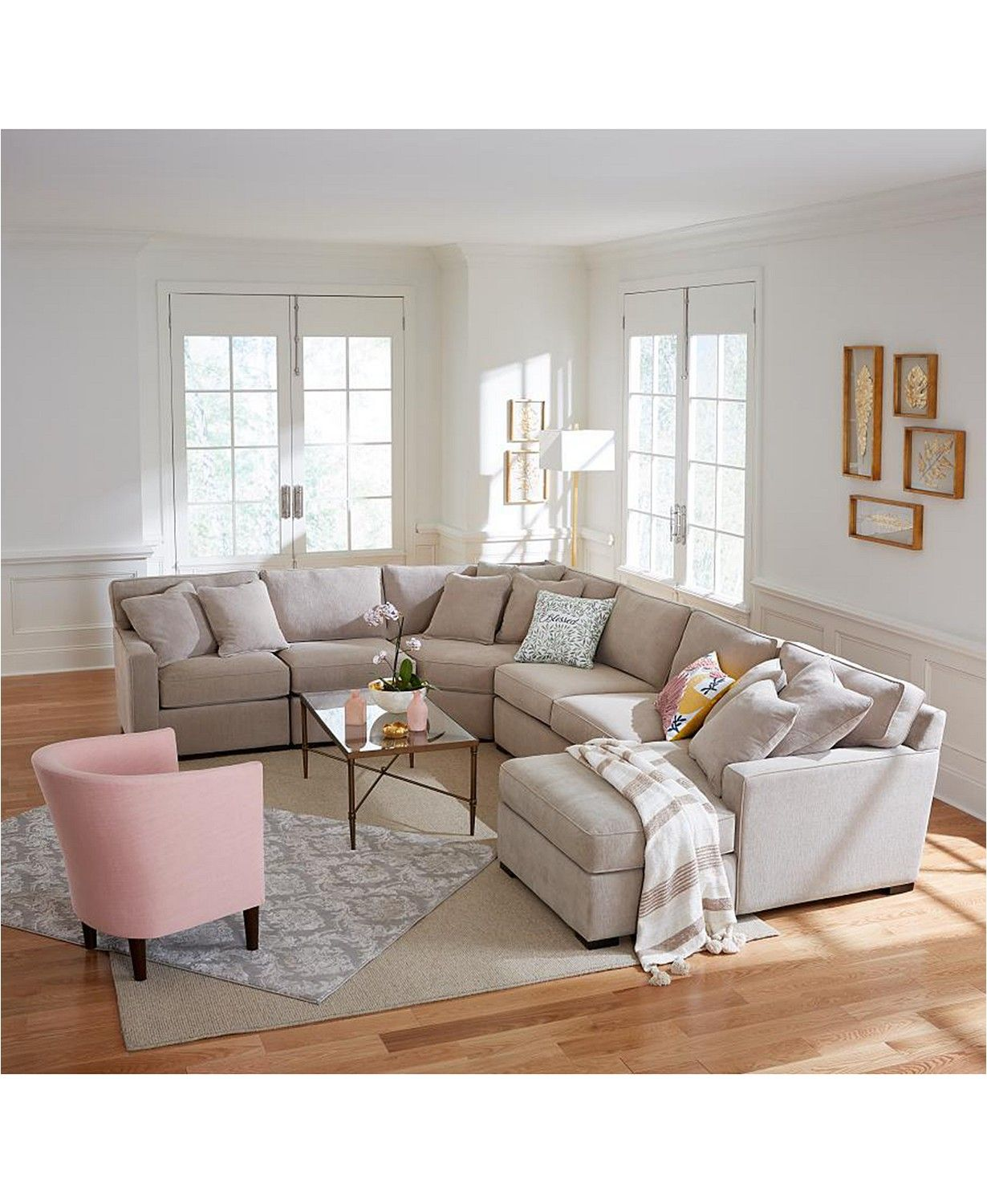 Furniture Radley 5-Piece Fabric Sectional Sofa with Apartment Sofa, Created for Macy's & Reviews - Furniture - Macy's