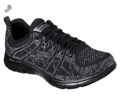 Skechers Sport FLEX APPEAL 2.0 - Trainers - black/charcoal/white LOmf0d