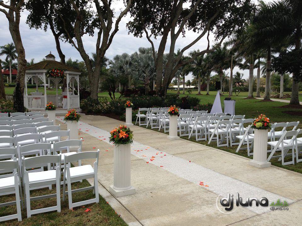 Ceremony Dj Setup Jacaranda Golf Country Club In Plantation Fl