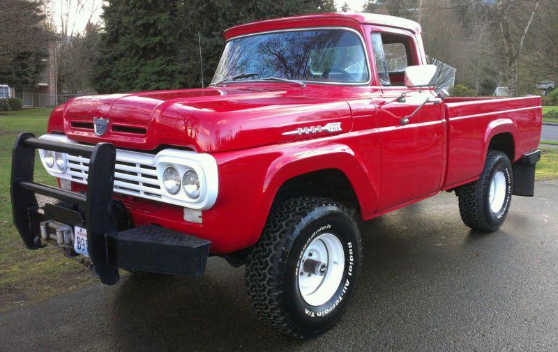 1960 Ford F100 4x4 427 V8 Ebay Trucks Classic Trucks Ford Trucks
