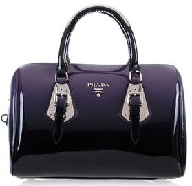 Patent Leather Purple Best Replica Prada Handbag 2017