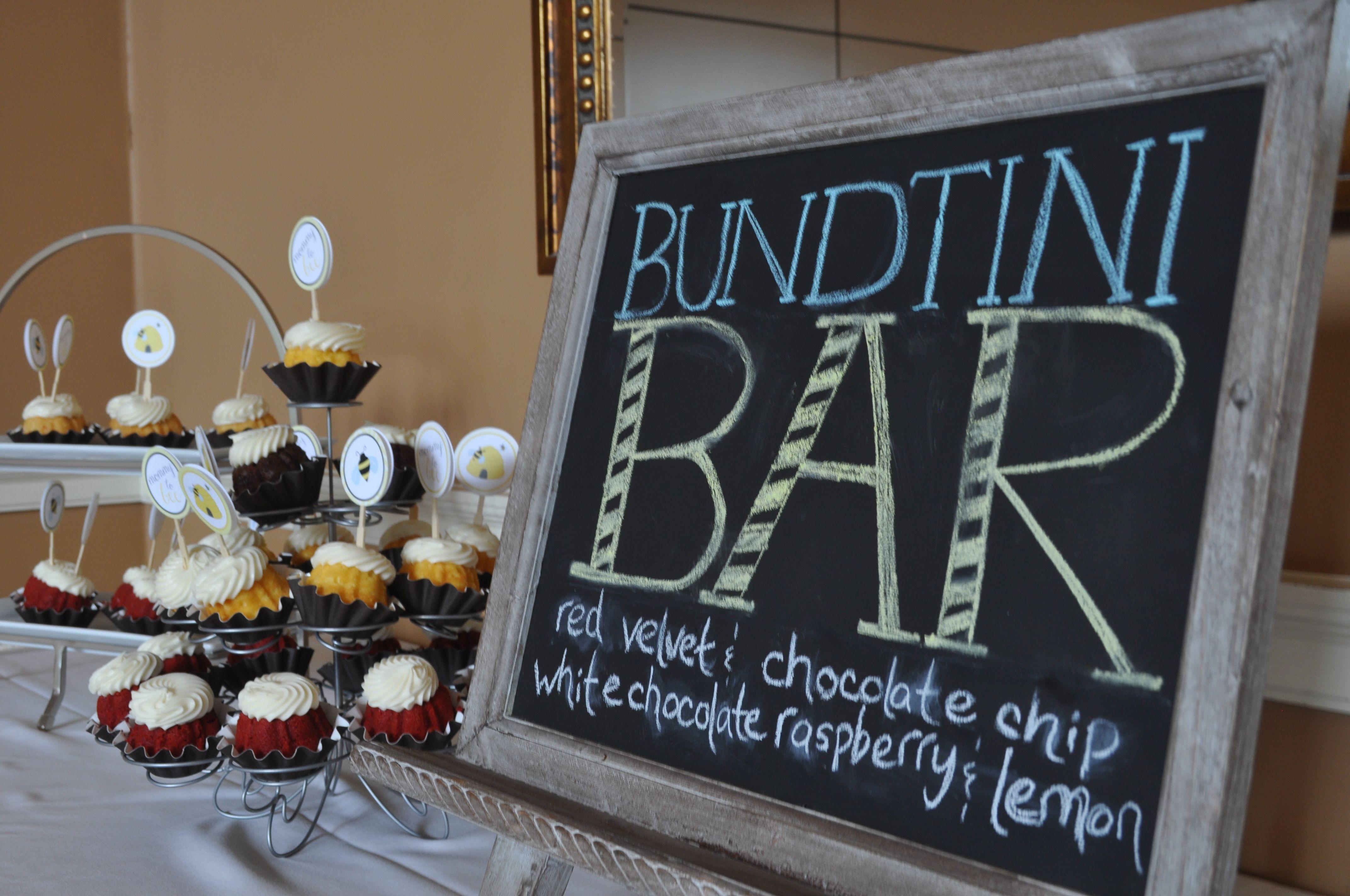 Bundtini Bar Nothing Bundt Cake Wedding Desserts Wedding