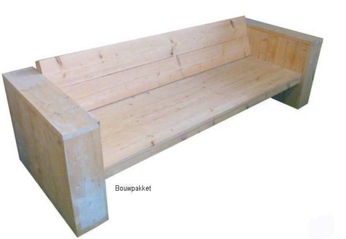 Hoekbank loungebank van gebruikt steigerhout op maat