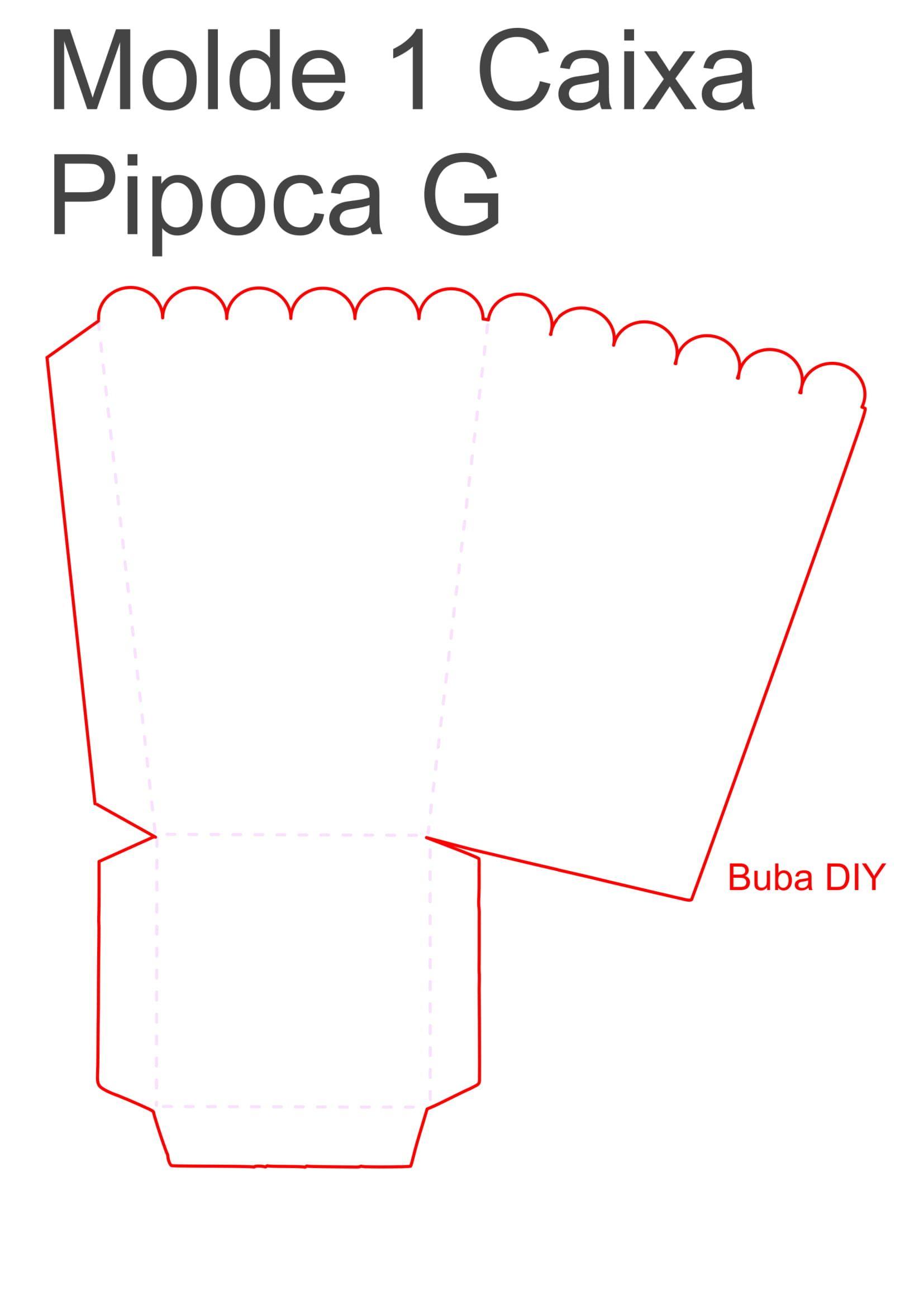 Decoração cinema - molde 1 caixa pipoca grande | Moldes Buba DIY ...