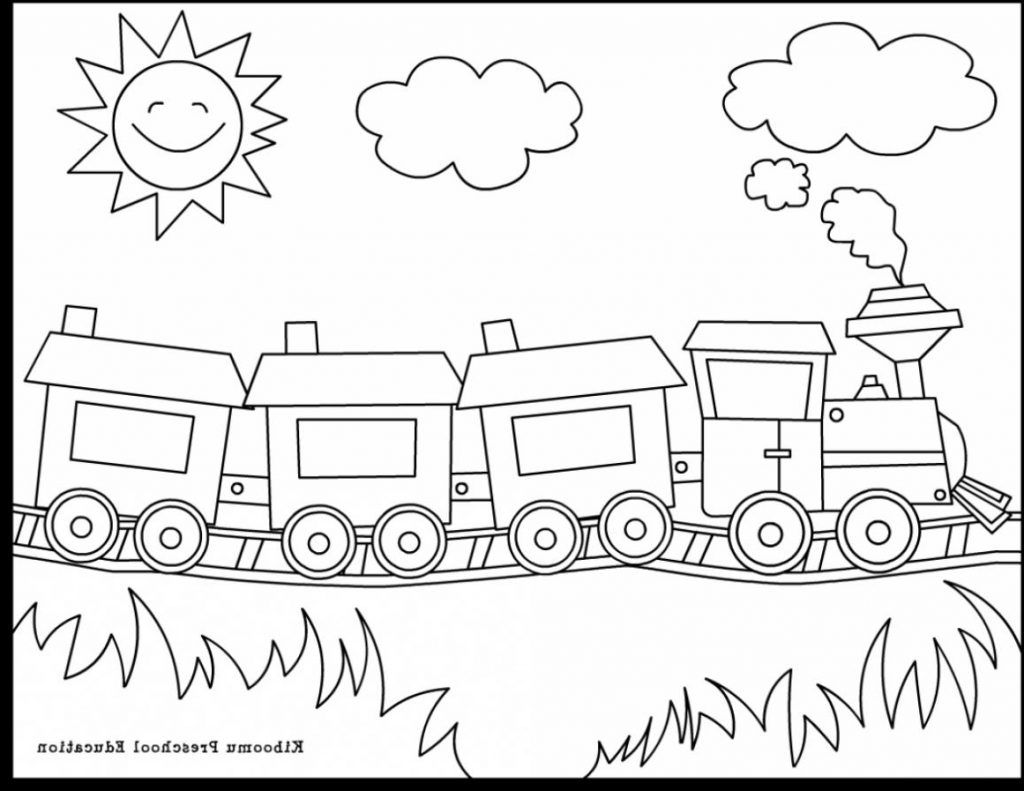 Pre K Coloring Sheets Train Coloring Pages Kindergarten