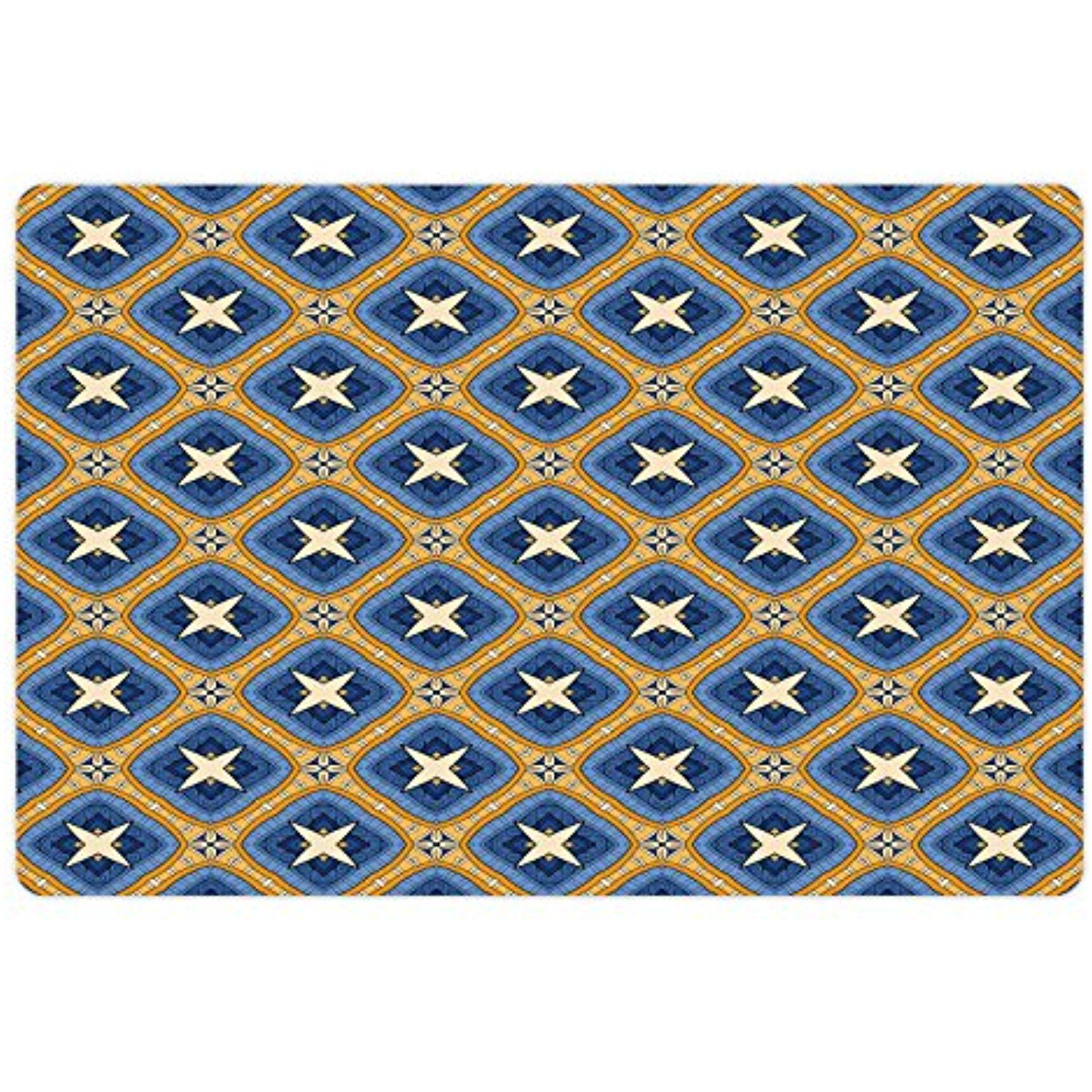Ethnic Pet Mats for Food and Water by Ambesonne, Asian Vintage Tile ...