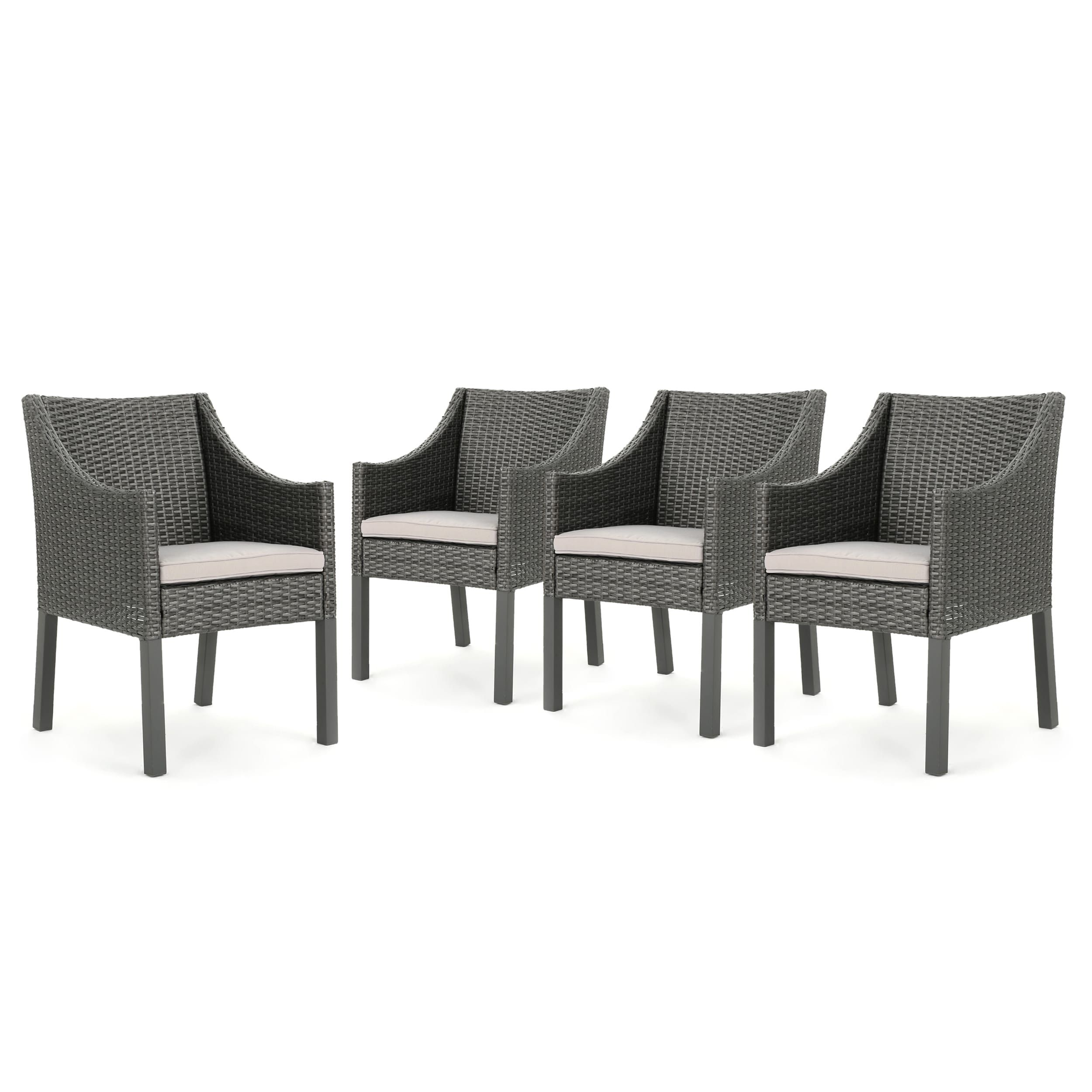 Antibes Outdoor Wicker Dining Chair With Cushions Set Of 4 By