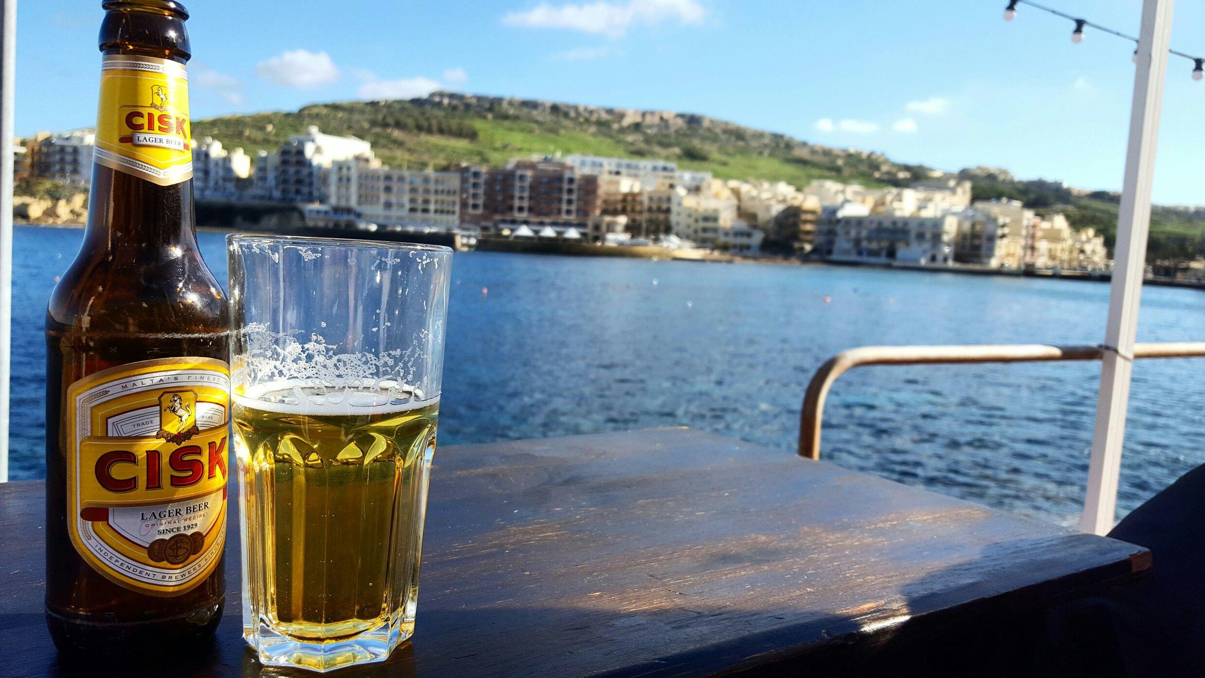 Marsalforn Gozo #cisk #beer