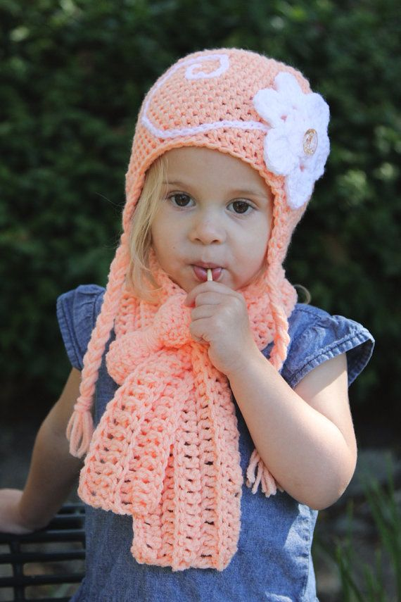 Crochet Hat Scarf Set Toddler 13 Years By Herhookhandmade On Etsy 30 00 Crochet Hats Crochet Crochet Baby Clothes