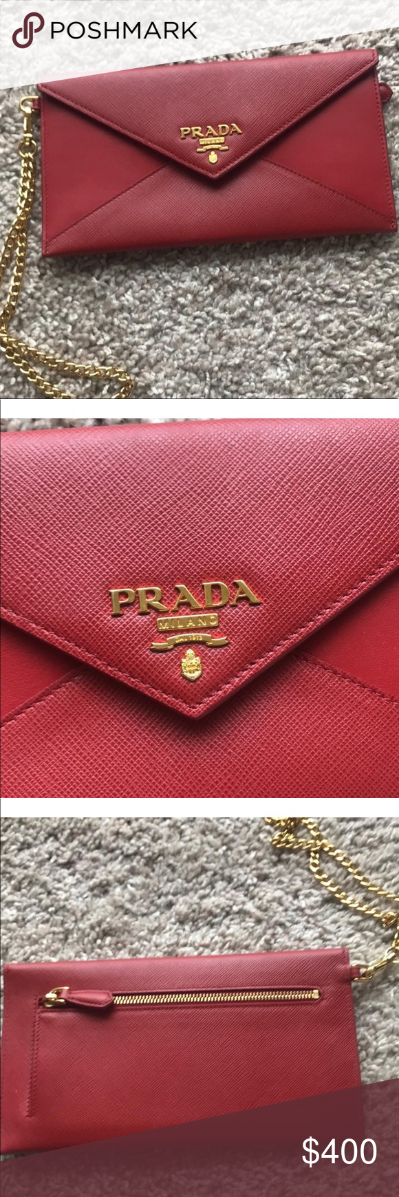 9b0058a33b1e Prada clutch Like brand new Comes with box and authenticity card Prada Bags  Clutches & Wristlets