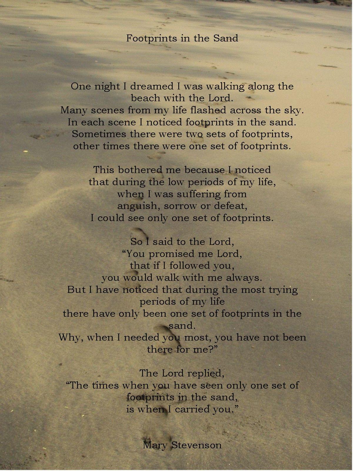 Footprints In The Sand (poem) - Wallpaper Hd | ΑΠΟΦΘΕΓΜΑΤΑ ...
