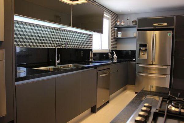 Cozinhas modernas e muito bem planejadas casa e - Armarios para casas pequenas ...
