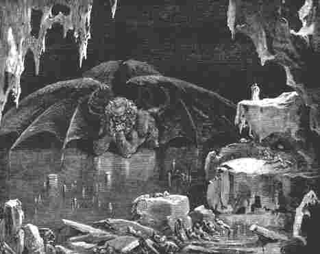 Como un demonio expulsado de la zona más profunda y sombría del mismo Hades...