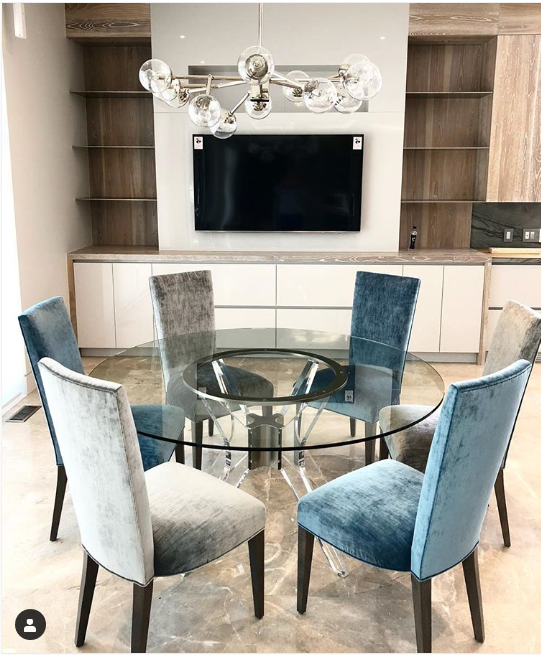 Ariel Round Table Glass Round Dining Table Glass Dining Table