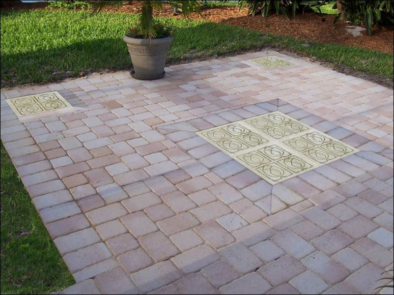 Charming Stone Patio Designs | Patio Stepping Stones