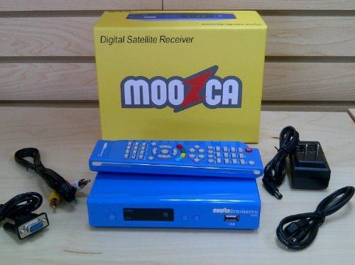 Moozca Bravissimo Twin HD - BLUE by Moozca. $108.00. MOOZCA BRAVISSIMO TWIN AVAILABLE IN blue color Dual tuner Usb HD, Video Resolution 1080p/i 720p/i 576p/i 480p/i Digital Satellite Receiver Frecuency 950-2150 MHz Audio decoding MPEGI layer1/2, MPGII layerII, Audio mode: Mono/Stereo/left/rigth PVR. Save 48%!