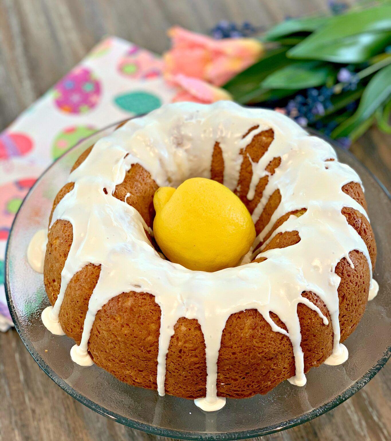 5 ingredient lemon cake the cookin chicks recipe
