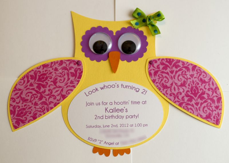 homemade owl craft for baby shower girl handmade owl invitation birthday party baby