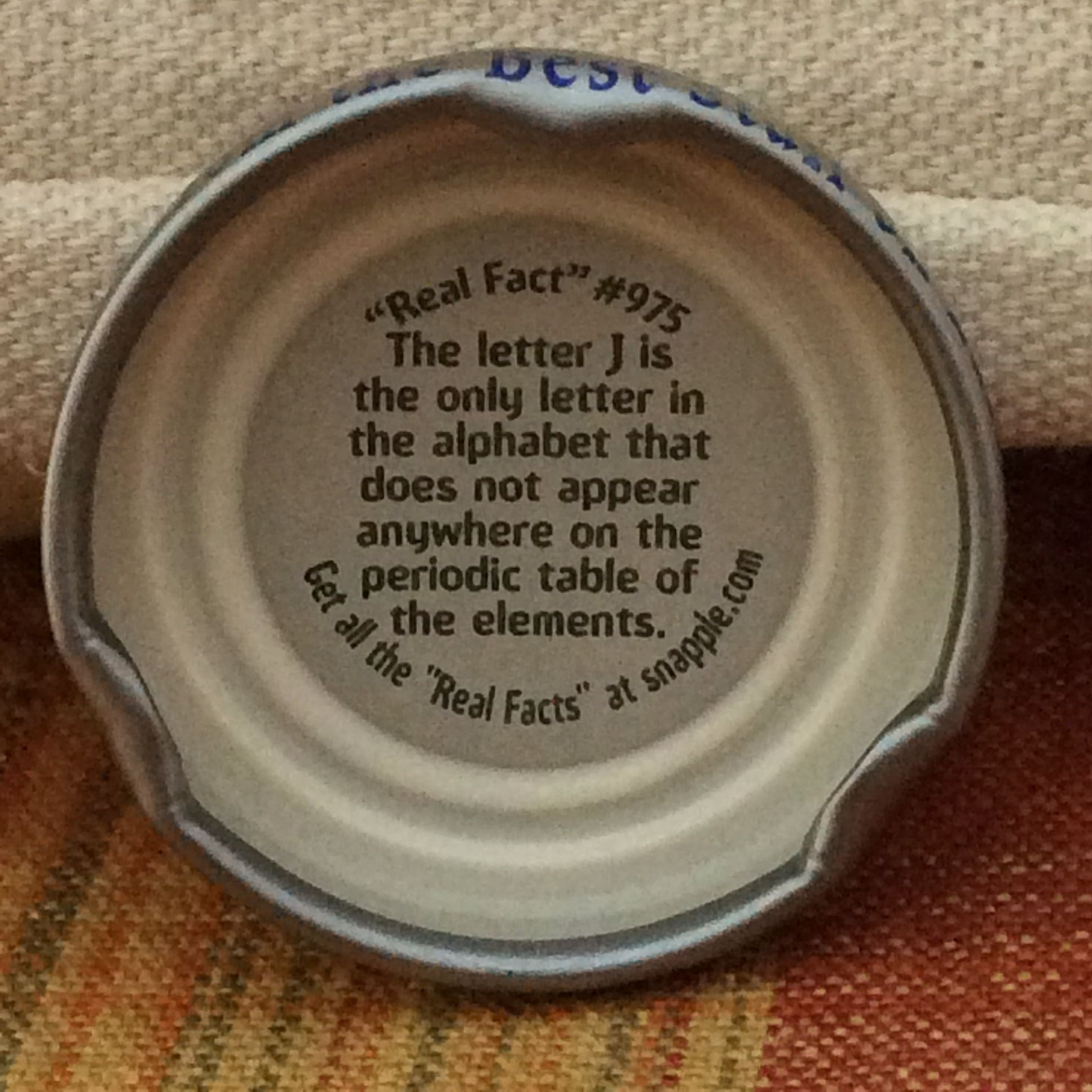 The letter j peachy snapple fact from my delicious peach tea the letter j peachy snapple fact from my delicious peach urtaz Gallery