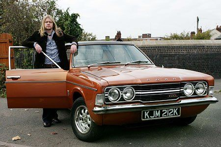 Funky Old Cortina Life On Mars Fan Paul Shedden With His Shiny Ford Cortina Which Starred In The Bbc Police Series Tv Cars Ford Classic Cars Retro Cars