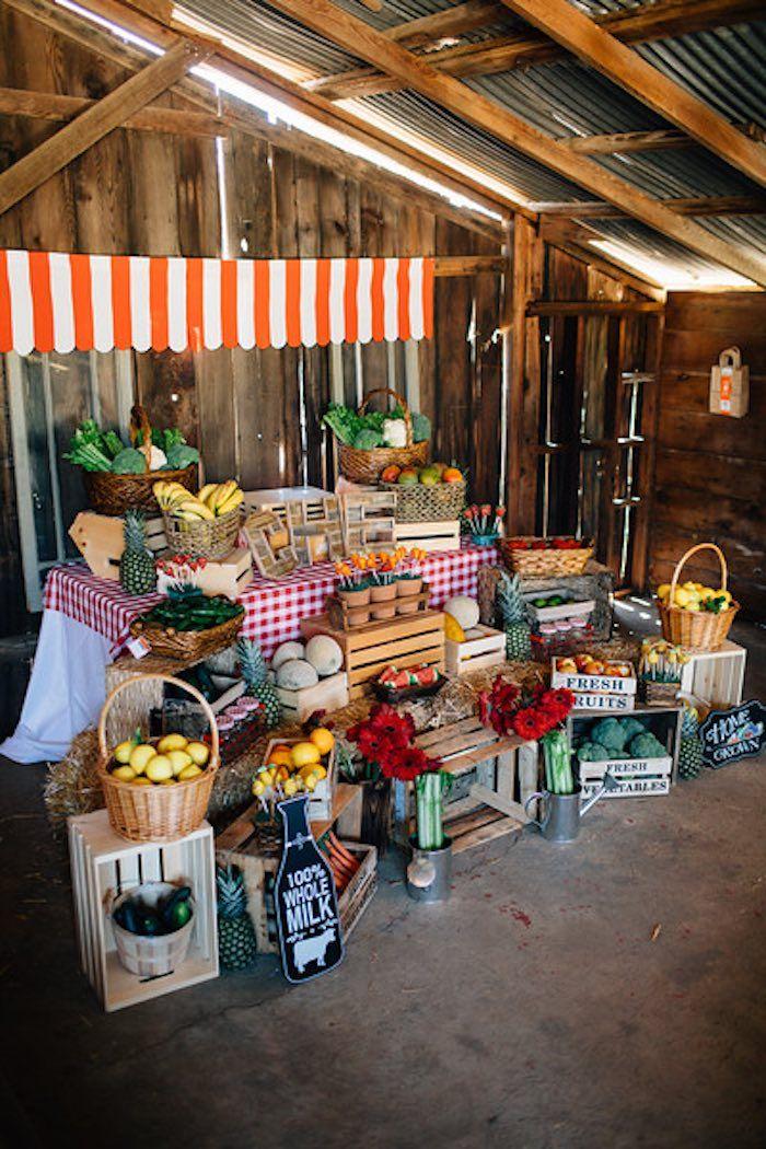 Main Setup from a Farmers Market Birthday Party via Kara's ...