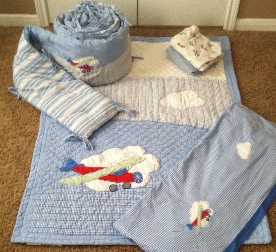 Pottery barn vintage airplane nursery bedding vintage airplane nursery airplane nursery and - Airplane baby bedding sets ...