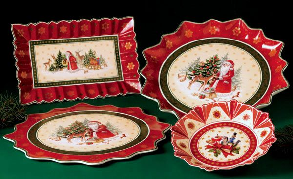 Villeroy and boch toy 39 s fantasy christmas plates holiday for Villeroy boch christmas