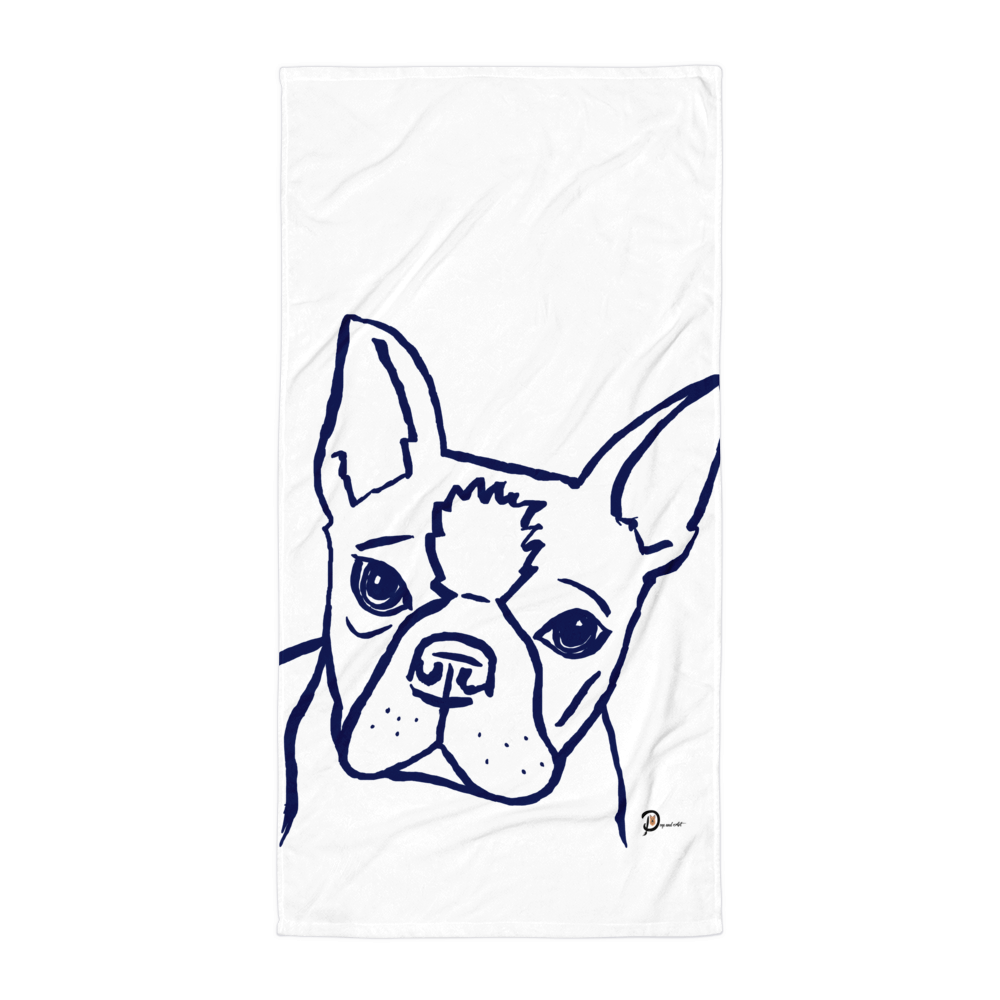 Artsy Boston Terrier Towel Artsy Boston Terrier Towel