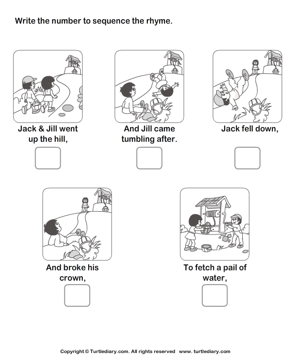 Download And Print Turtle Diary S Story Sequencing Jack And Jill Worksheet Our Story Sequencing Worksheets Sequencing Worksheets Story Sequencing
