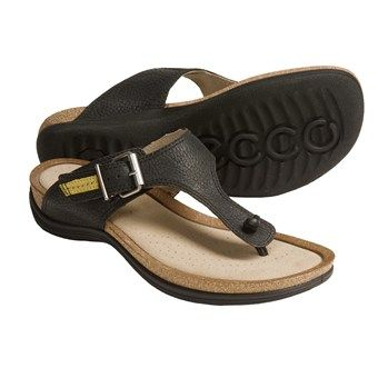 bef1bdedd424 ECCO Passion Thong Sandals - Leather (For Women) in Black