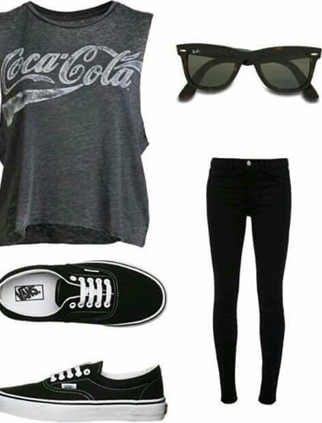 outfit vans and black image outfit 39 s kleidung. Black Bedroom Furniture Sets. Home Design Ideas