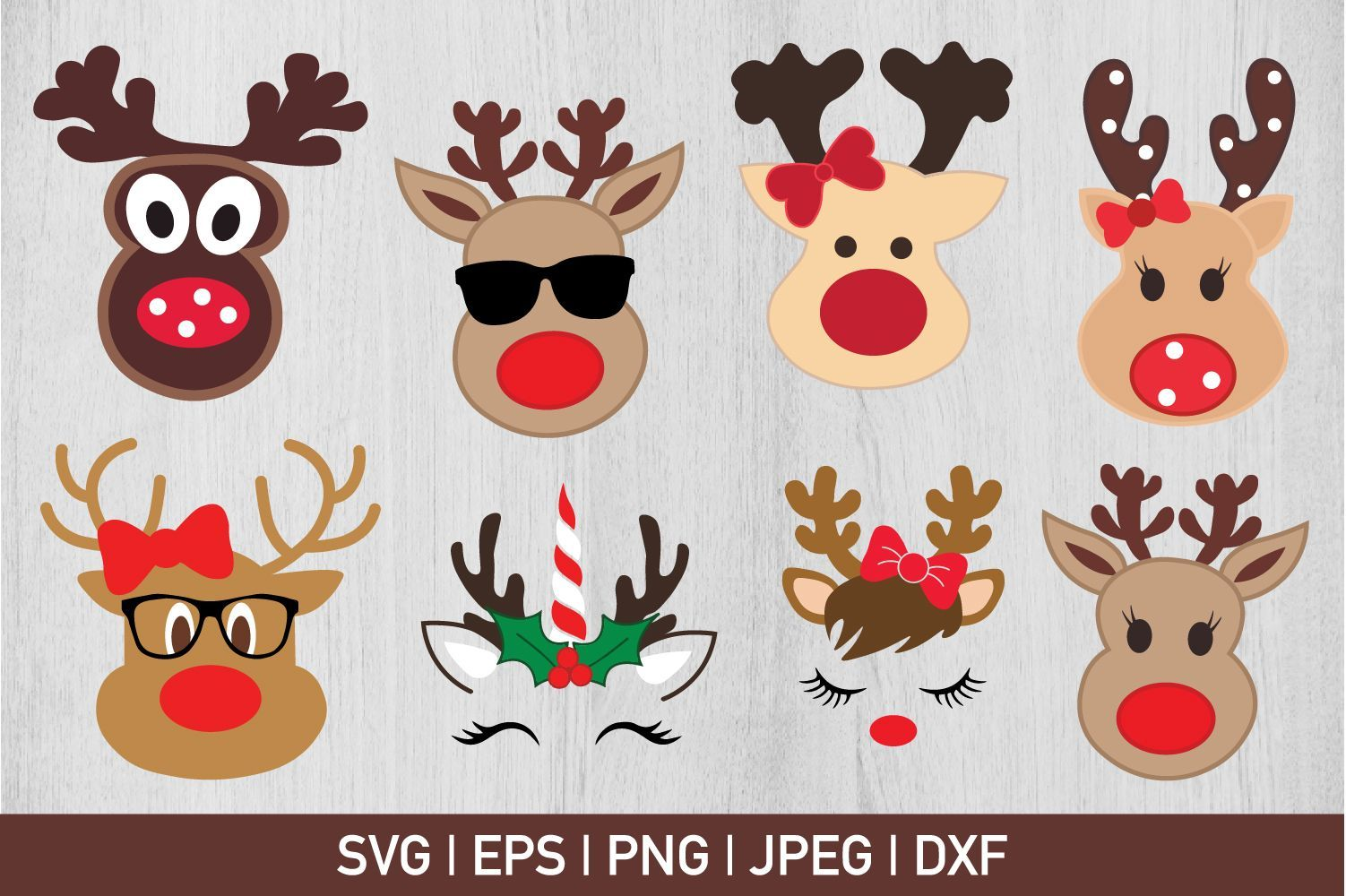 Reindeer Bundle Graphic by CrazyPandaSvg - Creative Fabrica #programingsoftware Can be used with the Silhouette cutting machines, Cricut, or other program/software that accept these files.   This listing is for an... #programingsoftware