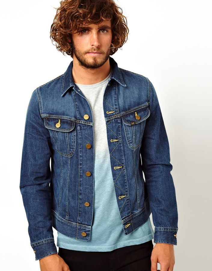 Pin by Lookastic on Denim Jackets in 2019 | Lee denim jacket