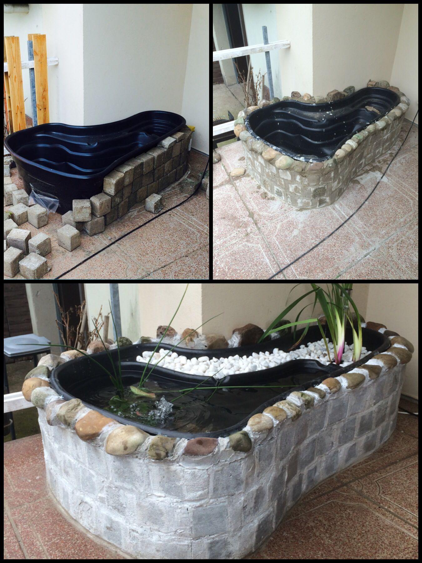 selfmade terrace pond diy terrassen teich selfmade selbst gemacht pinterest garten garten. Black Bedroom Furniture Sets. Home Design Ideas