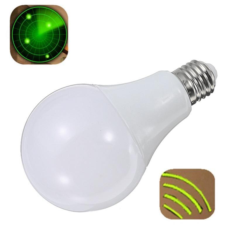 E27 9w 24 Led Lamp Bulb Led Light Bulb 220v Radar Sensor Light Bulb Home Detection Lamp Energy Saving Pure White 6000 6500k Light Bulb Light Sensor Led Light Bulb